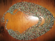 jewelry: green beaded necklace