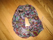 scarf_purple flowered