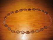 jewelry: brown beaded necklace
