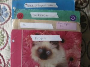 Organizing: folders