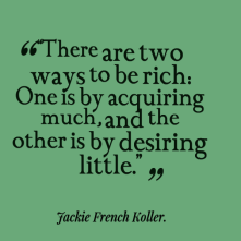 Two ways to be rich